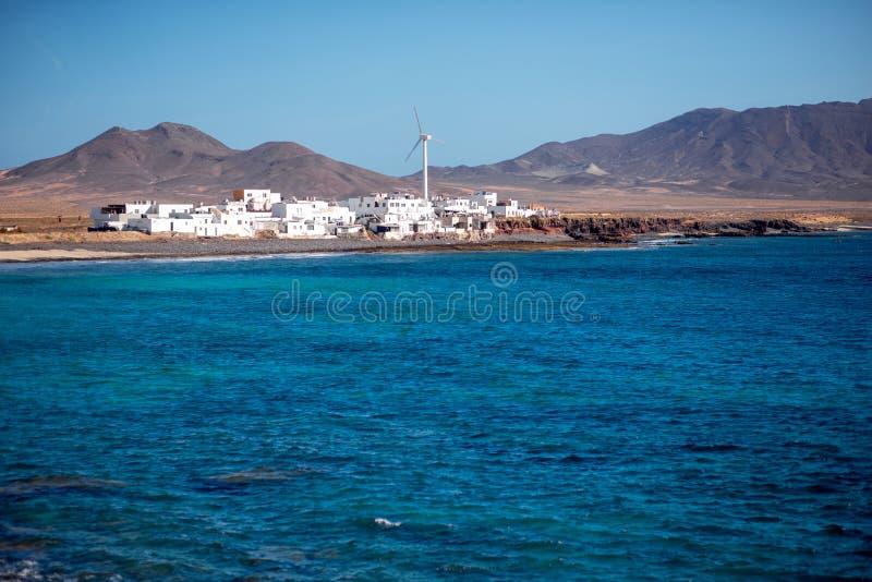 Vila de Puerto de la Cruz na ilha de Fuerteventura fotografia de stock