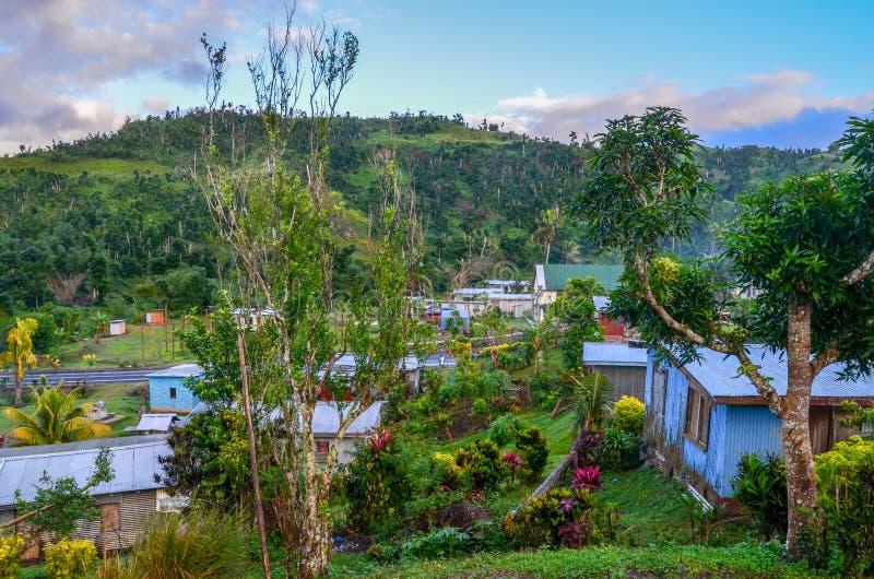 Vila de Rokovuaka, ilha de Viti Levu, Fiji fotografia de stock royalty free