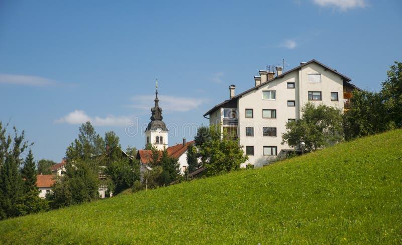 Vila de Rovte, Eslovênia fotografia de stock