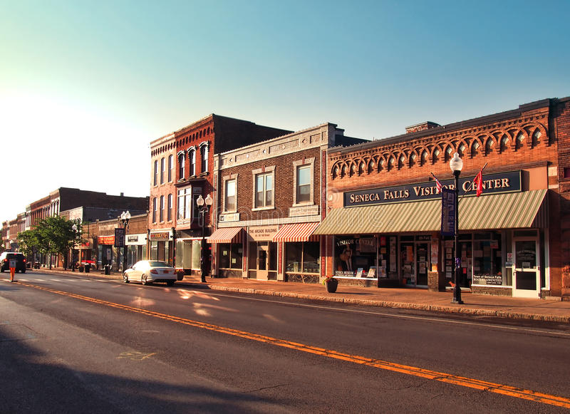 Vila de Seneca Falls foto de stock royalty free