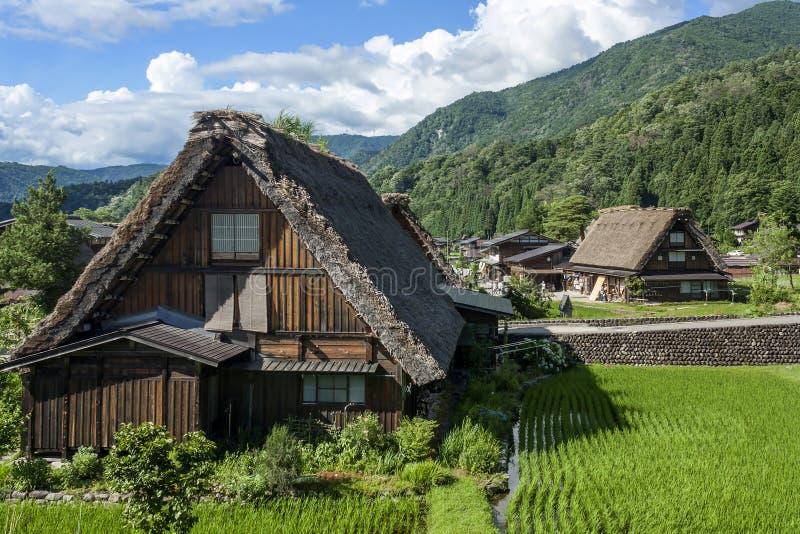 Vila de Shirakawa, Japão - um local do patrimônio mundial do UNESCO imagem de stock royalty free