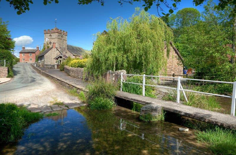 Vila de Shropshire, Inglaterra imagem de stock