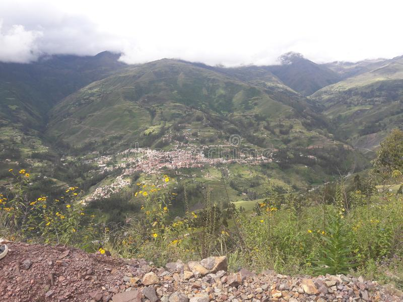Vila de Sorata, La Paz Department, Bolívia fotografia de stock