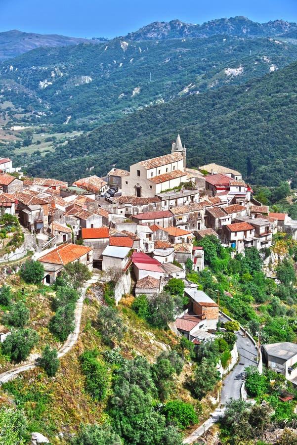 A vila de Staiti na província de Reggio Calabria, Itália imagens de stock