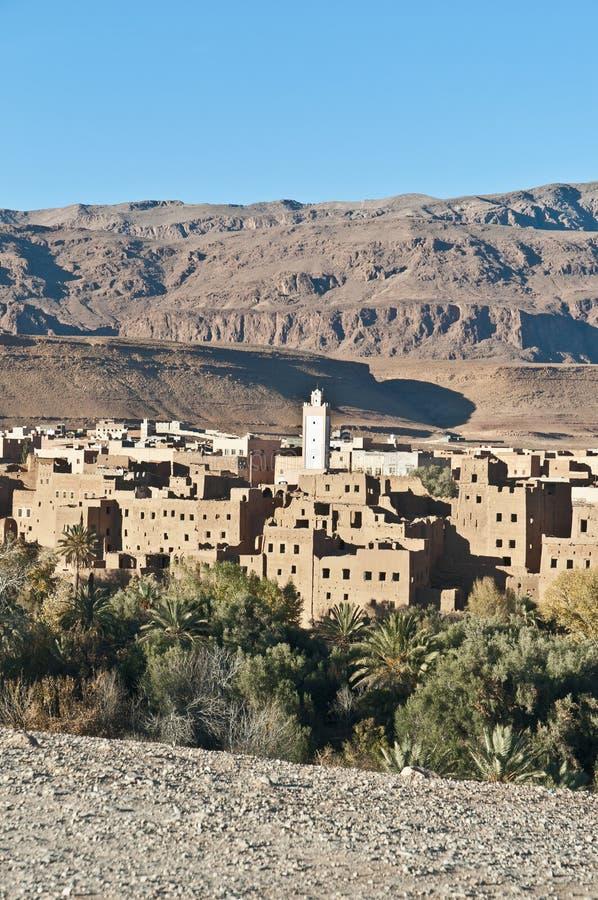 Vila de Tinerhir em Marrocos fotos de stock