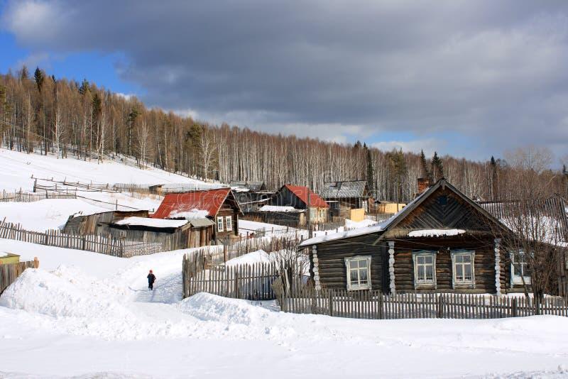A vila de Ural. foto de stock