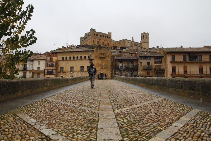 Vila de Valderrobres em Aragon, Espanha foto de stock