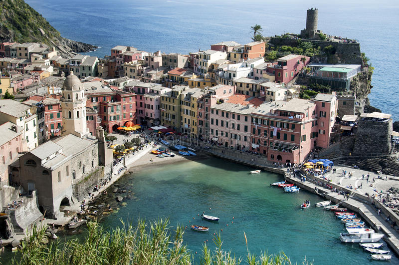 Vila de Vernazza - Cinque Terre imagens de stock