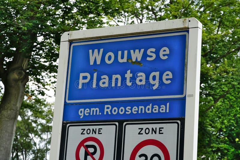 Vila de Wouwse Plantage nos Países Baixos fotografia de stock royalty free