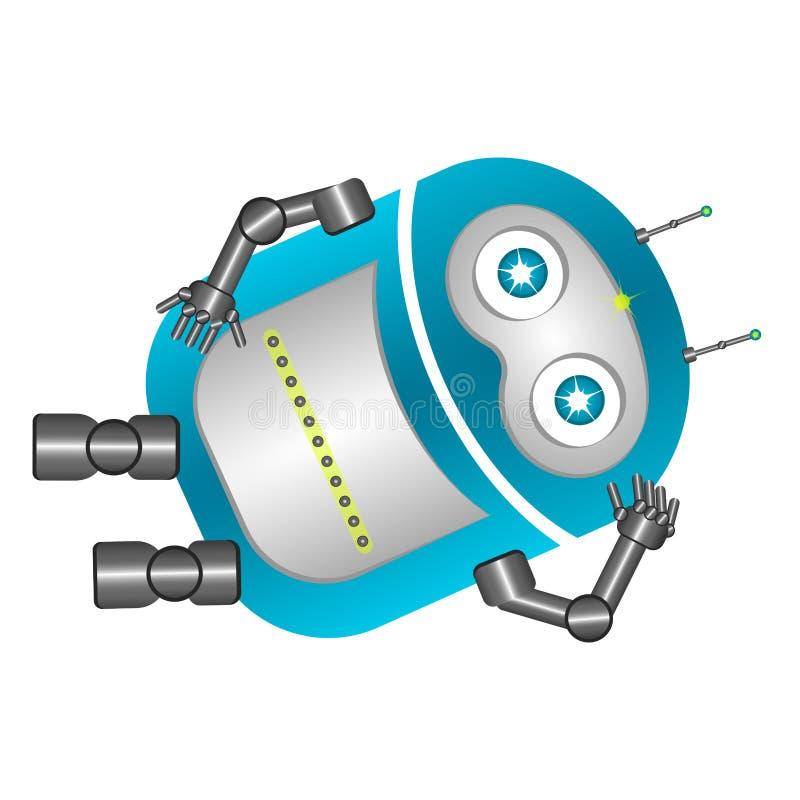 Vila den gulliga roboten stock illustrationer