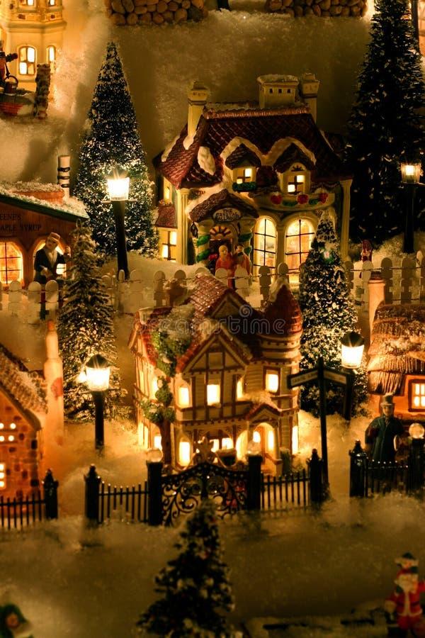 Vila diminuta do Natal fotos de stock