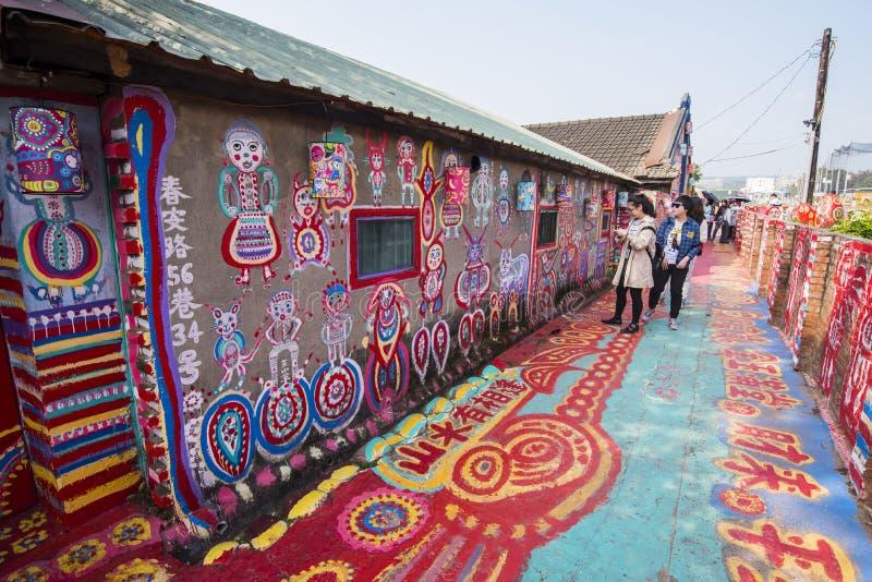 Vila do arco-íris de Taichung: Pinte a cidade imagem de stock