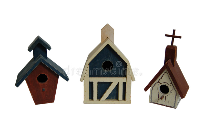 Vila do Birdhouse imagem de stock royalty free