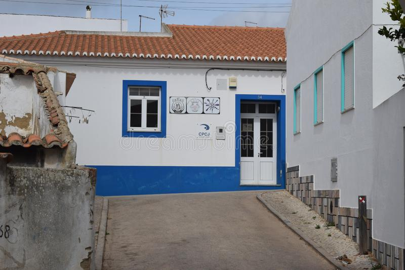 Vila Do Bispo, Portugal. Vila do Bispo, with its narrow streets, whitewashed houses, and peaceful cafes sits almost at the extreme southwest corner of both royalty free stock photography