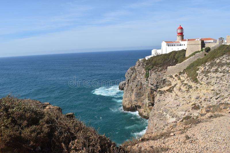 Vila Do Bispo, Portugal. Vila do Bispo, with its narrow streets, whitewashed houses, and peaceful cafes sits almost at the extreme southwest corner of both royalty free stock photo