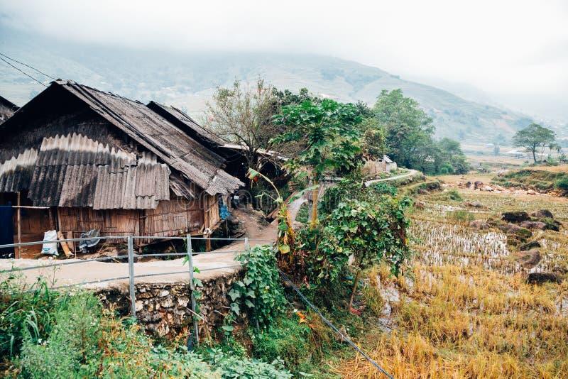 Vila do campo de Lao Chai em Sapa, Vietname foto de stock royalty free