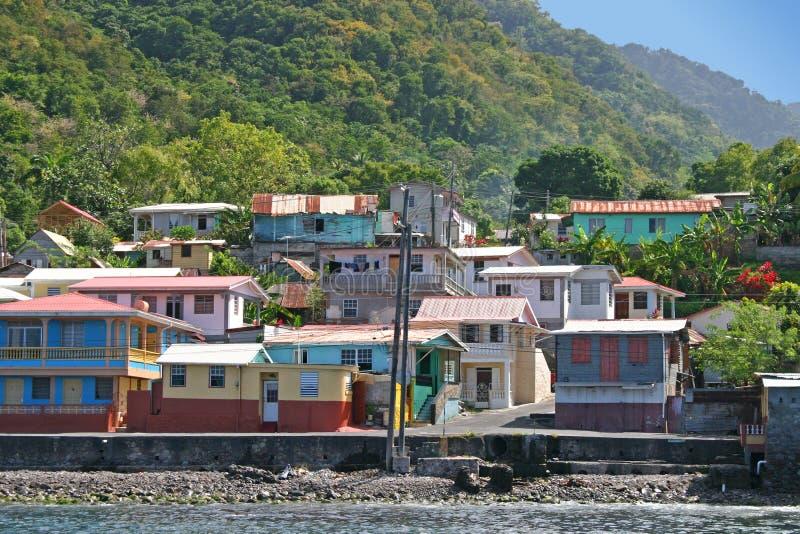 Vila do Cararibe imagens de stock