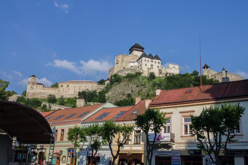Vila do castelo de Trencin fotos de stock royalty free