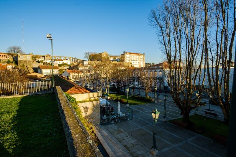 Vila do Conde. Portugal - January 03, 2019 : downtown , Porto District, Portugal stock image