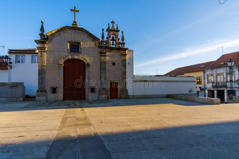 Vila do Conde. Portugal - January 03, 2019 : Vasco da Gama Square, Porto District, Portugal royalty free stock photo
