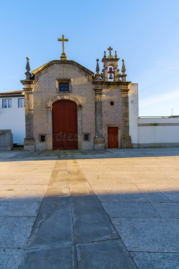Vila do Conde. Portugal - January 03, 2019 : Vasco da Gama Square, Porto District, Portugal royalty free stock image