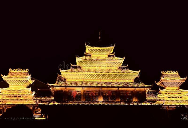 Vila do dong de Zhaoxing, as construções originais da nacionalidade do dong foto de stock royalty free