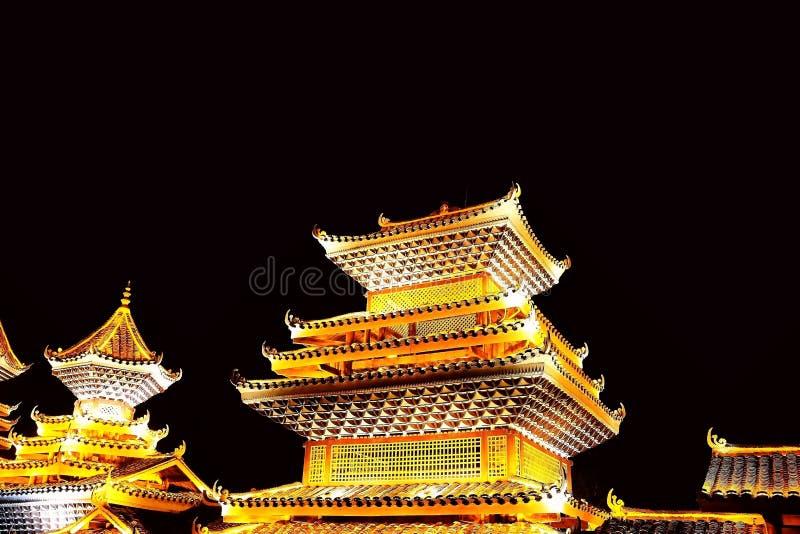 Vila do dong de Zhaoxing, as construções originais da nacionalidade do dong fotografia de stock royalty free