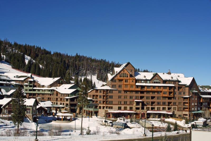 Vila do esqui imagens de stock