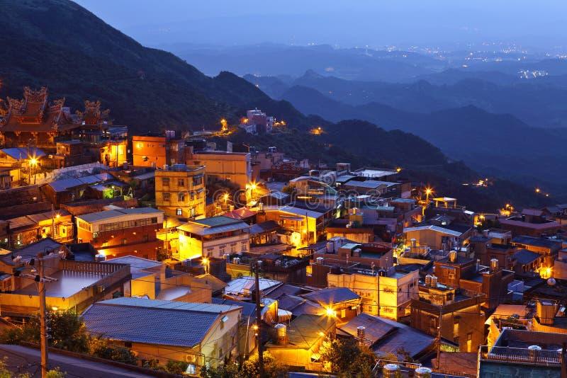 Vila do fen de Chiu na noite imagem de stock