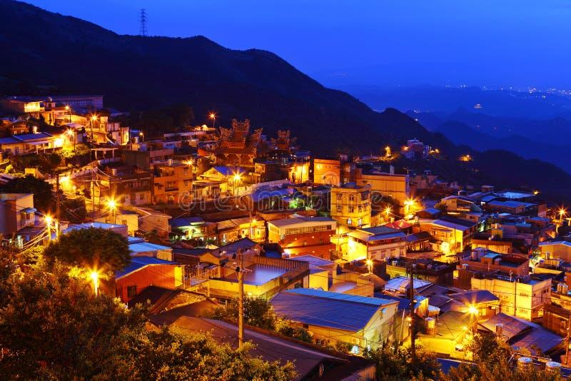 Vila do fen de Chiu na noite imagens de stock royalty free