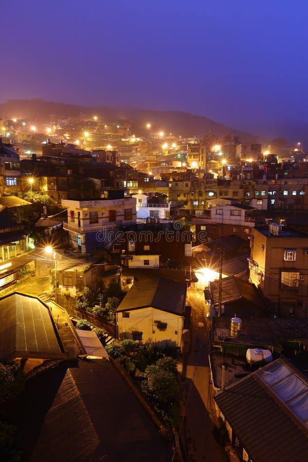 Vila do fen de Jiu na noite fotos de stock royalty free