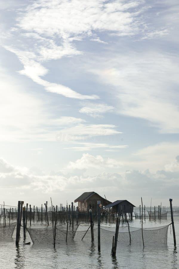 Vila do pescador. foto de stock royalty free