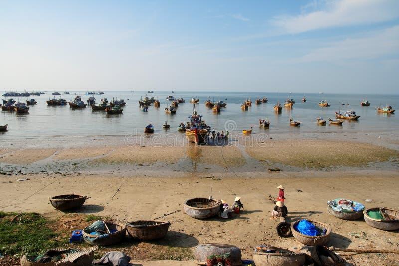 Vila do pescador, Ne de Mui, Vietnam fotografia de stock