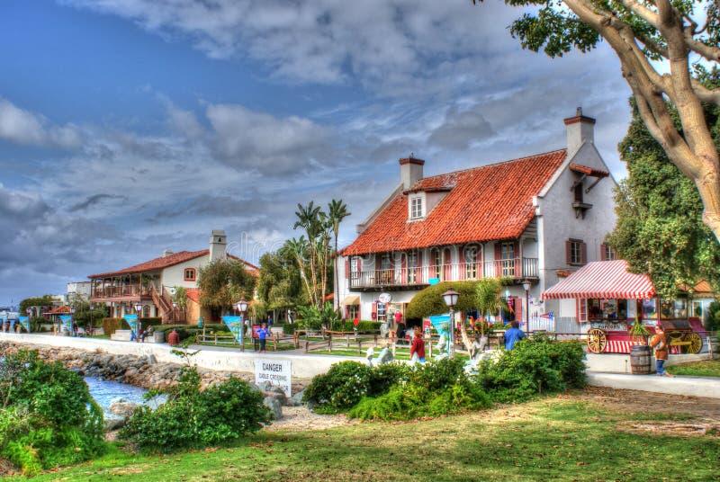 Vila do porto, San Diego imagem de stock