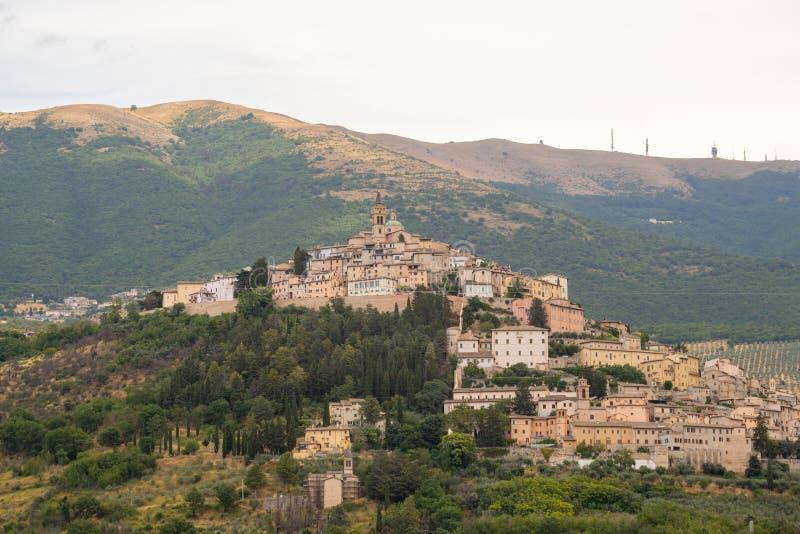 A vila do Trevi em Úmbria ?mbria, Italy foto de stock
