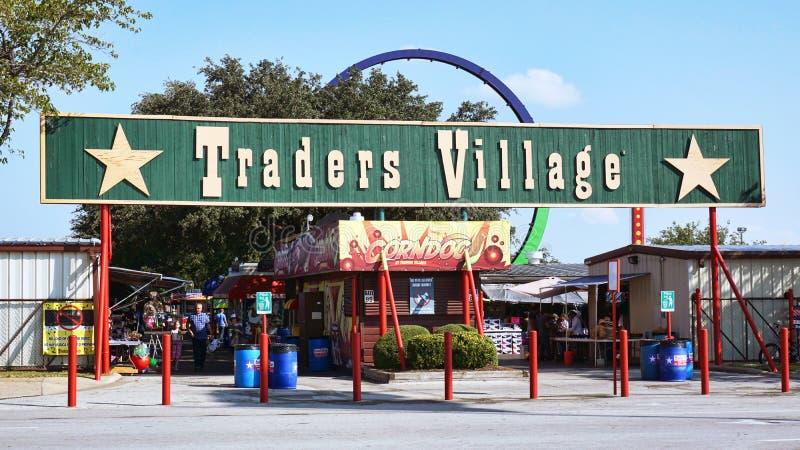 Vila dos comerciantes situada na pradaria grande, Texas fotografia de stock royalty free