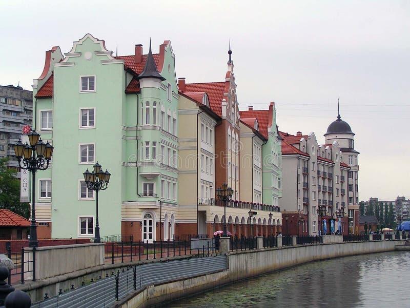 Vila dos peixes em Kaliningrad foto de stock