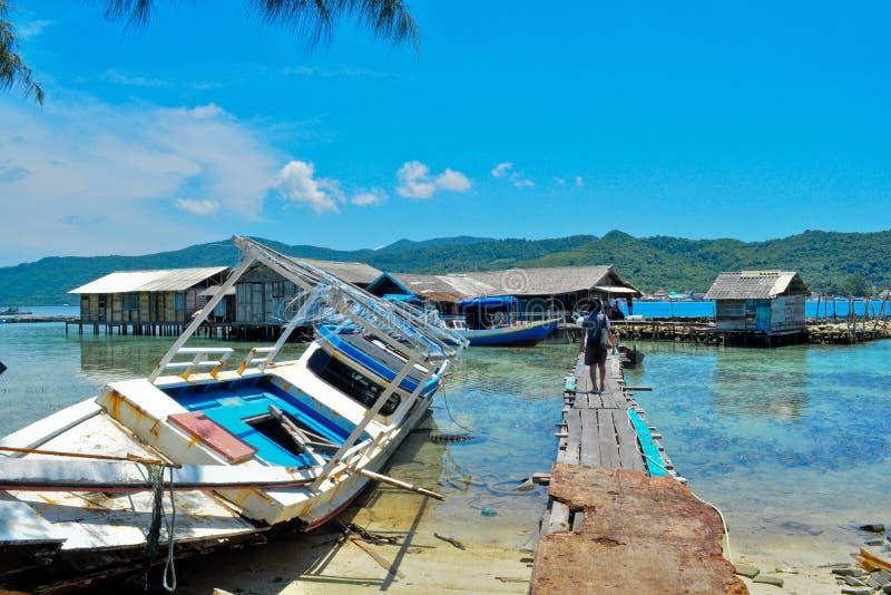 A vila dos pescadores fotografia de stock