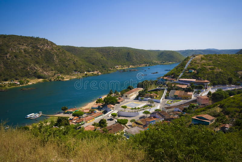 Vila dos Piranhas foto de stock royalty free