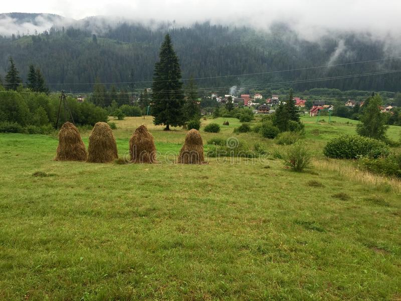 Vila em Carpathians, Ucrânia fotografia de stock royalty free