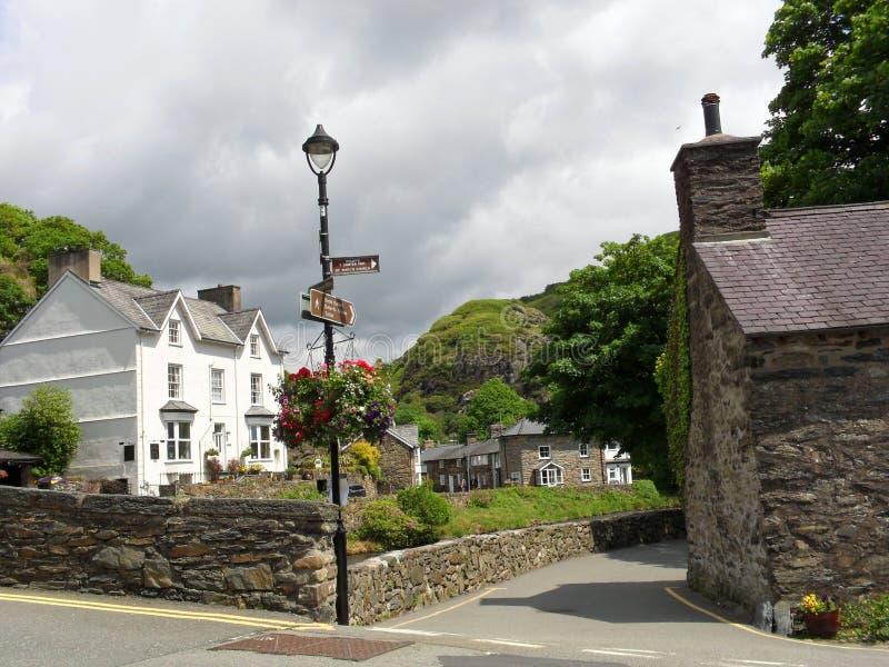 Vila em Gales foto de stock