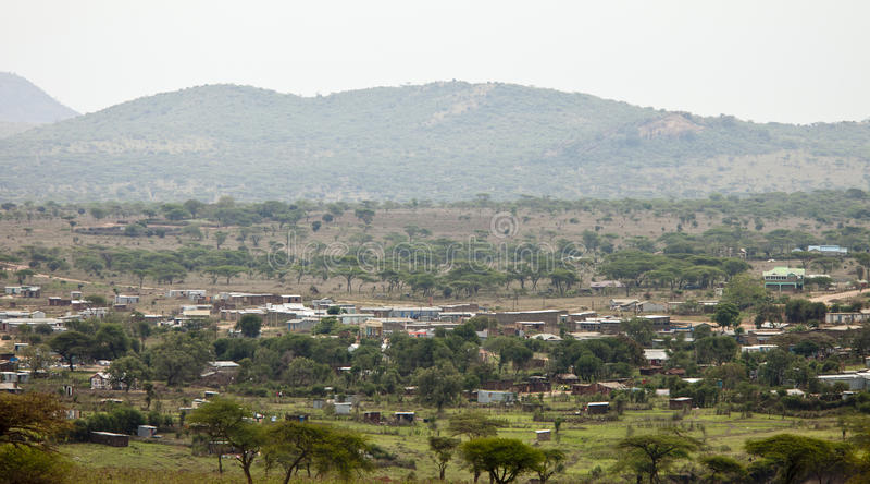 Vila em kenya imagens de stock
