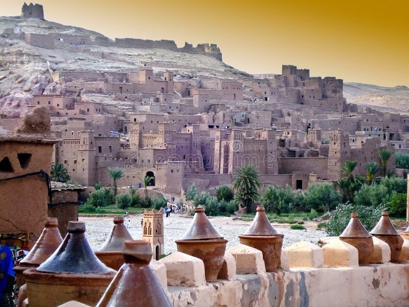 Vila em Marrocos foto de stock royalty free