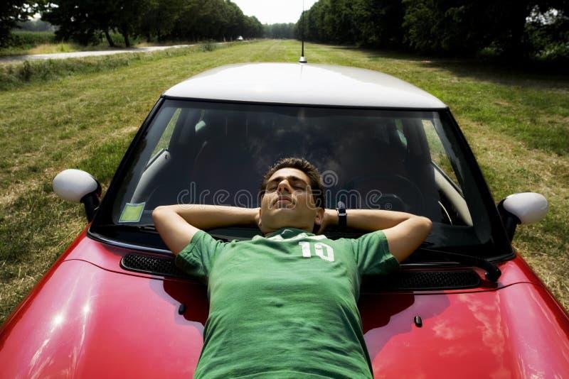 vila för bil royaltyfria foton