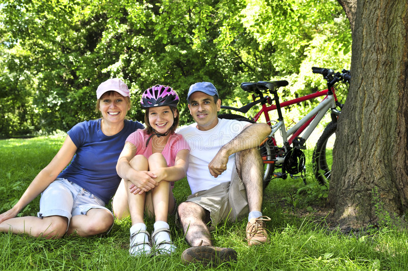 vila för familjpark arkivfoto