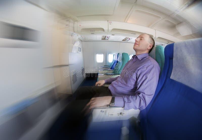 vila för flygplanaffärsman arkivfoto
