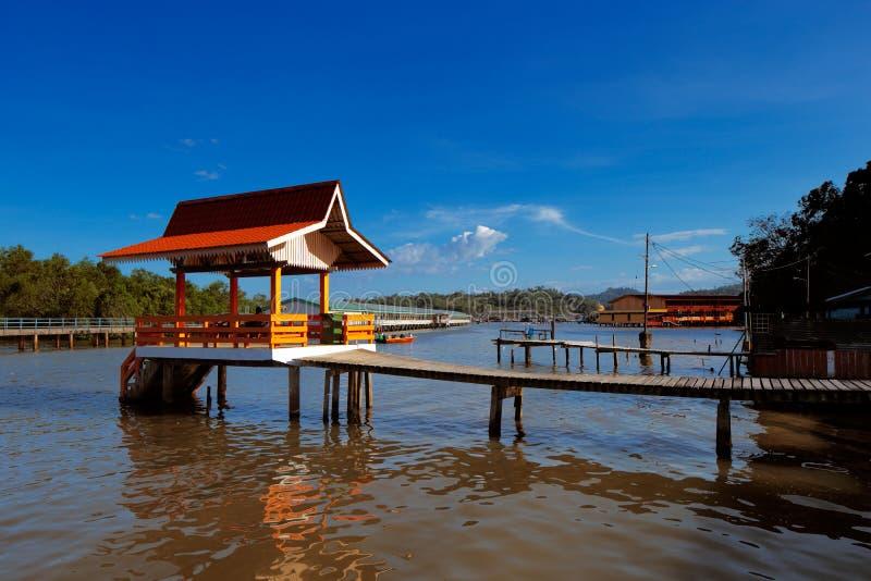 Vila famosa da água de Brunei fotografia de stock royalty free