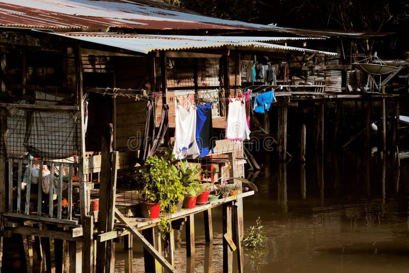 Vila famosa da água de Brunei imagem de stock royalty free