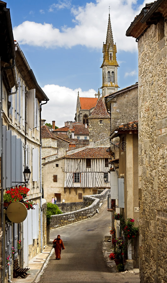 Vila francesa fotografia de stock