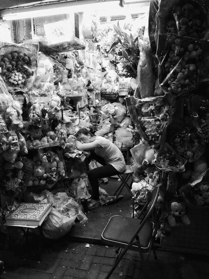 Vila i trädgården arkivbilder